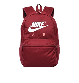40feafe8a4 Nike Backpack - Air maroon coral white  Amazon.co.uk  Luggage