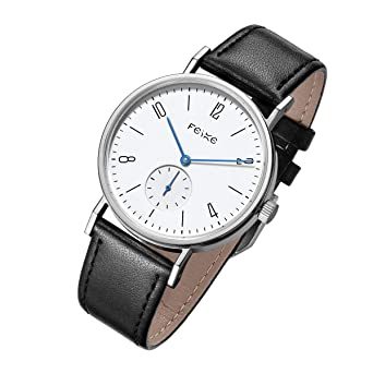 d9d2b1de2d2 FEICE Men s Automatic Watch Mechanical Watch Minimalist Bauhaus Casual  Watches for Men Analog Stainless Steel Leather