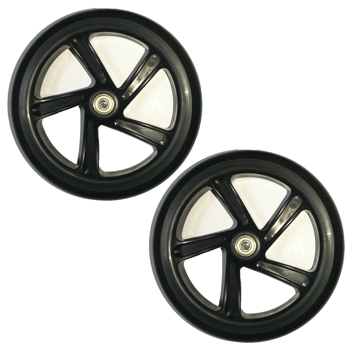 Z-FIRST 2PCS 200mm Adult Scooter Wheels with Abec 9 Bearings for Razor and Adult Kick Scooters