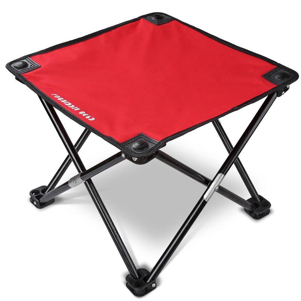 Forbidden Roadキャンプスツール折りたたみ椅子アウトドアFold Up椅子4つ脚ポータブル折りたたみ式椅子ハイキング釣り旅行アウトドア用スツール軽量頑丈な椅子レッド/ブルー/グリーン/ブラック B07417LBPG 13.77*13.77*11.8|レッド レッド 13.77*13.77*11.8