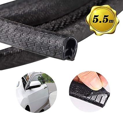 color negro 4 protectores de goma para puertas de coche