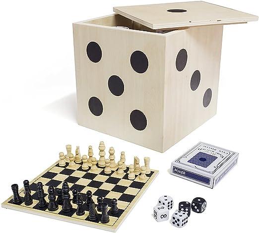 Balvi Set Juegos de Mesa Play Time en Forma de Dado 6 Juegos y ...