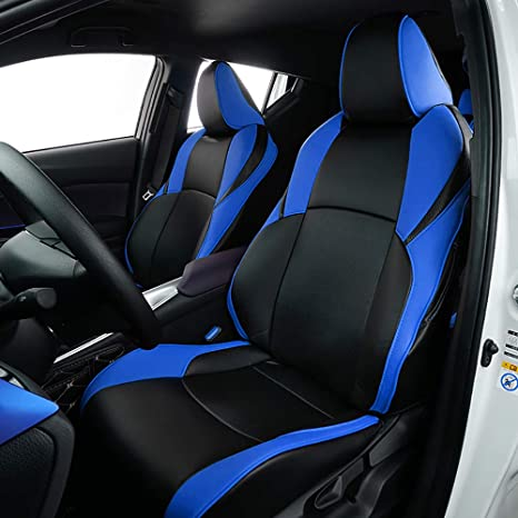 Astounding Bwen Czd1123A Car Seat Covers Leather Custom Full Set Seat Covers For 2018 2019 Toyota Ch R Blue Black Pdpeps Interior Chair Design Pdpepsorg