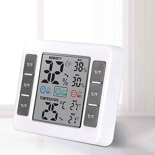 Lorjoy CJ-3316D LCD Digital termómetro higrómetro MAX/MIN Humedad Medidor de temperatura digital para la habitación del bebé: Amazon.es: Bricolaje y ...