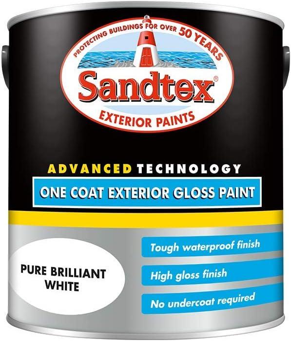 Sandtex Retail One Coat Exterior Gloss Black 0.75 L