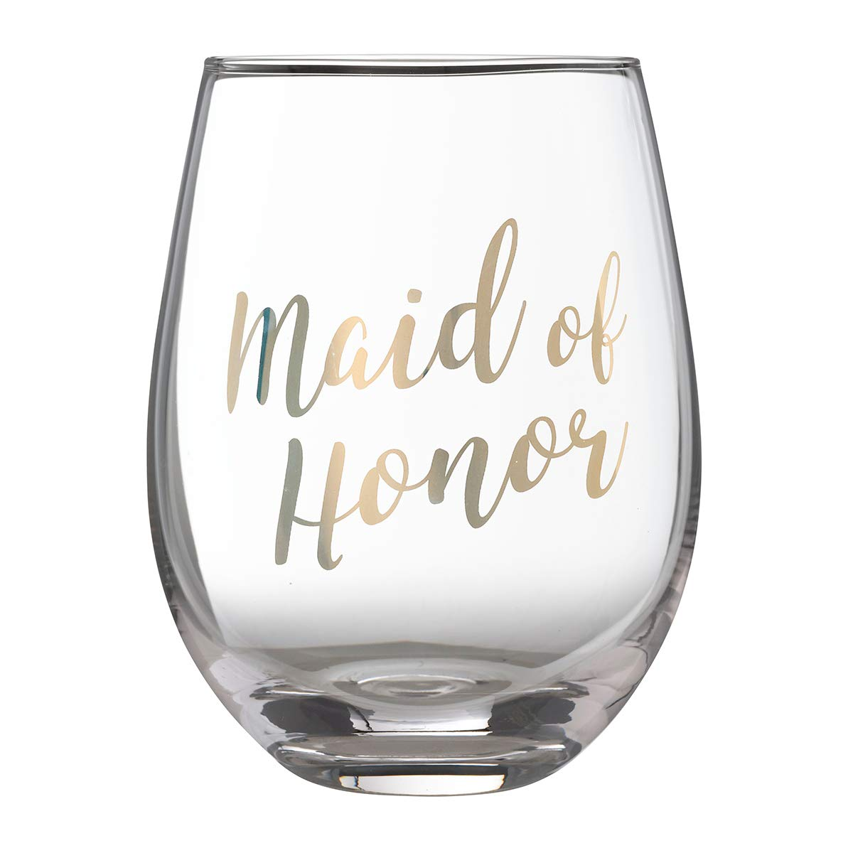 Lillian Rose G115 MH Gold Maid of Honor Stemless Wine Glass, Height 4.75 inches
