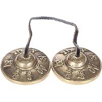 Cloche tibétaine tibétaine méditation artisanale clochette son craquant en cuivre