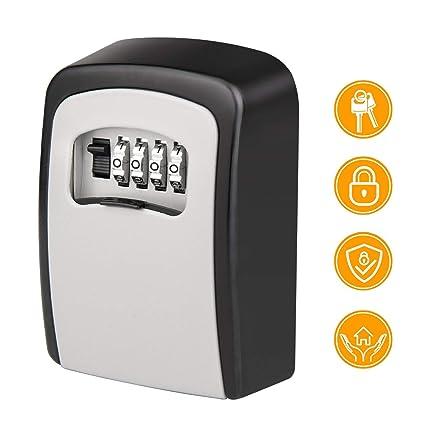 cf39a14db476 Key Storage Lock Box Victostar 4 Digit Combination Wall Mounted lockbox Key  Safe Security Storage Case Organizer Resettable Code