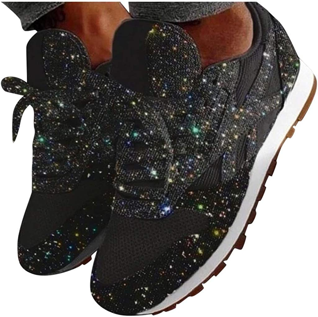 Sport Running Shoes Platform Lace Up