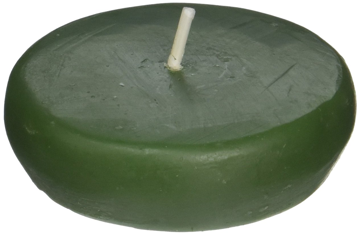 Zest Candle 24-Piece Floating Candles, 2.25-Inch, Hunter Green