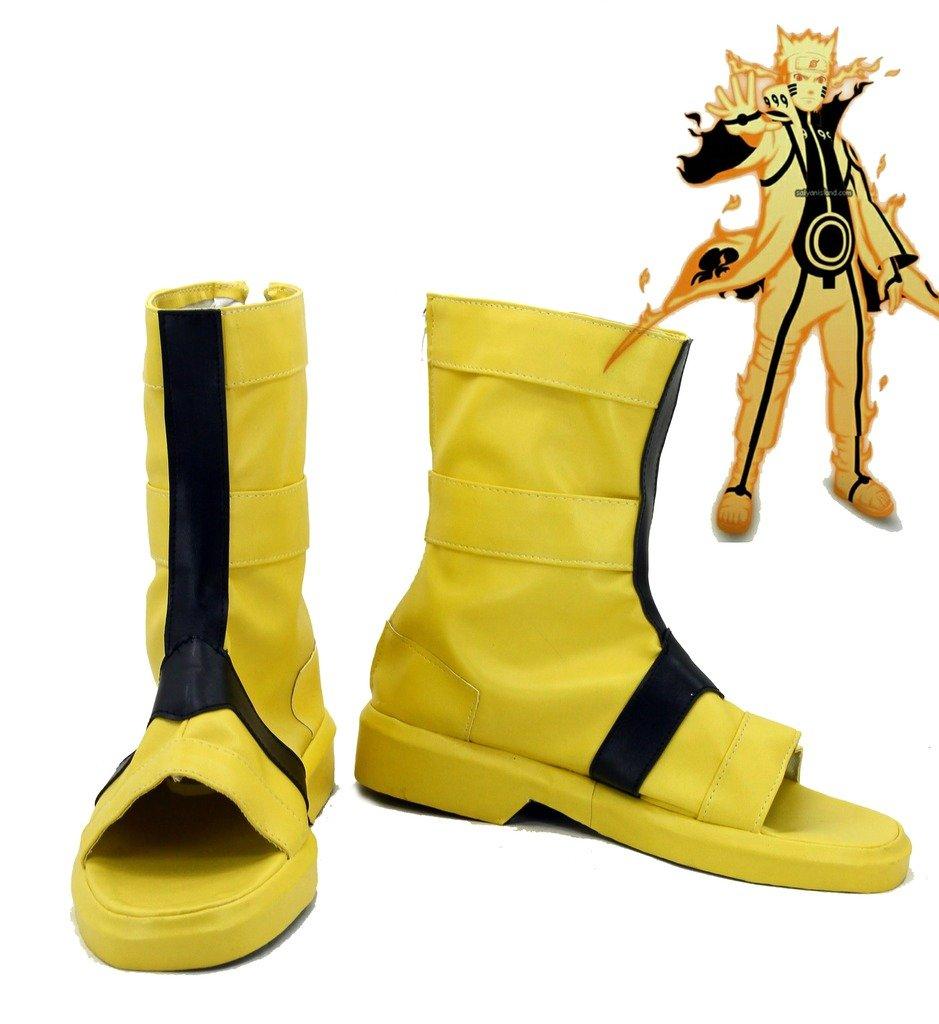 NARUTO Anime Uzumaki Naruto Cosplay Shoes Boots Custom Made Nine-Tails Chakra Mode