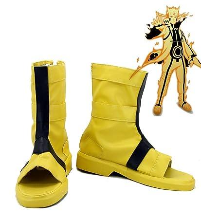 amazon com naruto anime uzumaki naruto cosplay shoes boots custom