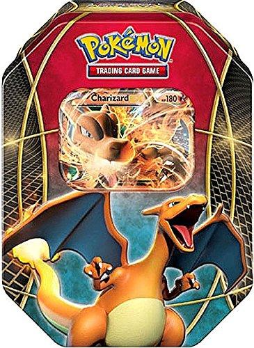 amazon com pokemon card game ex power trio charizard ex tin toys