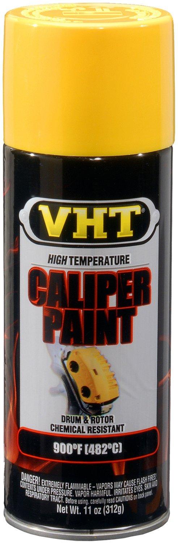 VHT (SP738-6 PK Bright Yellow High Temperature Brake Caliper Paint - 11 oz. Aerosol, (Case of 6)