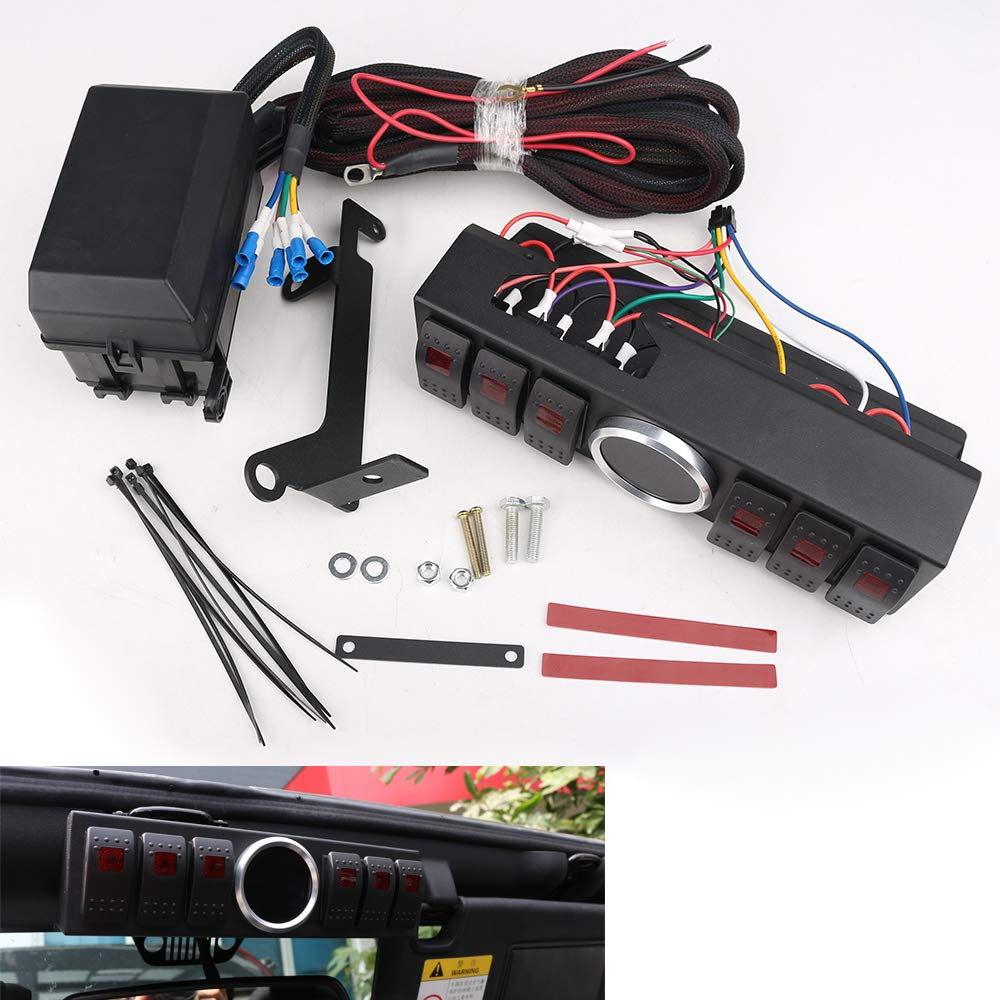 HOZAN 6-Rocker Switch Pod Power up 6 Accessories Toggle Panel with on ah fuse box, 2010 jeep compass fuse box, ce fuse box, gm fuse box, 2013 patriot horn fuse box, rc fuse box, ga fuse box, zj fuse box, wj fuse box, 1997 jeep cherokee fuse box, 2014 jeep compass fuse box, ek fuse box, db fuse box, ac fuse box, wrangler fuse box, ka fuse box, eg fuse box, xj fuse box, ge fuse box,