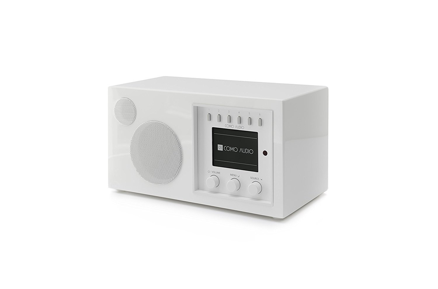Como Audio: Solo - Wireless Music System with Internet Radio, Spotify Connect, Wi-Fi, FM, and Bluetooth - Piano White