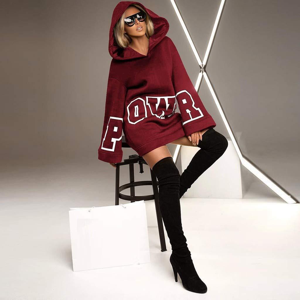 Women Cat Print Hoodie Plus Size Long Sleeve Hooded Sweatshirt Long Top