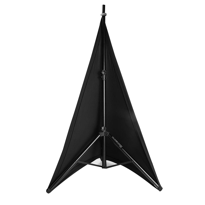 Simple Noir Spandex Lycra DJ Jupe avec 3/C/ôt/és Poche/ /Id/éal pour Effet de lumi/ère 1 Noir Weddecor tr/épied Support denceinte Stretch Coque Triple Face Scrim Couverture de 360/degr/és