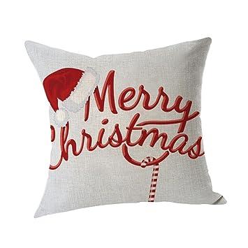 Amazon.com: Funda de almohada de Navidad, kimloog Lino y ...