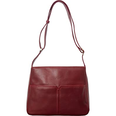 Amazon.com  Derek Alexander Large Top Zip Shoulder Bag (Red)  Shoes f4525b4c12386
