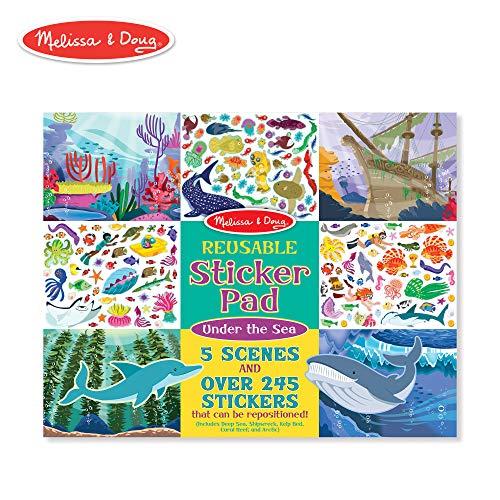 Melissa & Doug Reusable Sticker Activity Pad - Under The Sea -