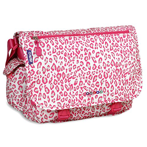 J World New York Terry Messenger Bag, Leopard, One Size