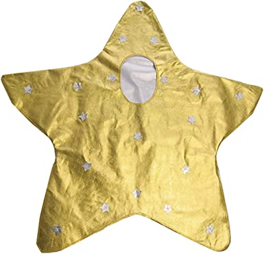 Silver Star Kids Costume Boys Girls Christmas Nativity Fancy Dress Decoration