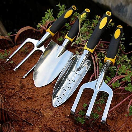 Rastrello Pala Cazzuola Regalo di Giardinaggio per Uomini e Donne Attrezzi Giardinaggio Professionali Set Attrezzi da Giardino 4 Pezzi Durevole Alluminio Kit Giardinaggio Comprende Forbici