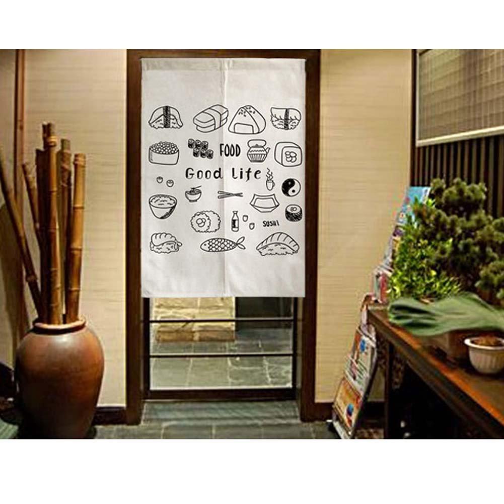 09 George Jimmy Delicate Door Curtain Japanese Restaurant Kitchen Curtain Hotel Sushi Bar Decoration