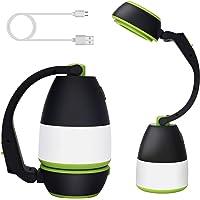SYTUAM LED camping lamp, multifunctionele, USB oplaadbare, LED Outdoor Lights, waterdichte LED zaklamp met power bank…