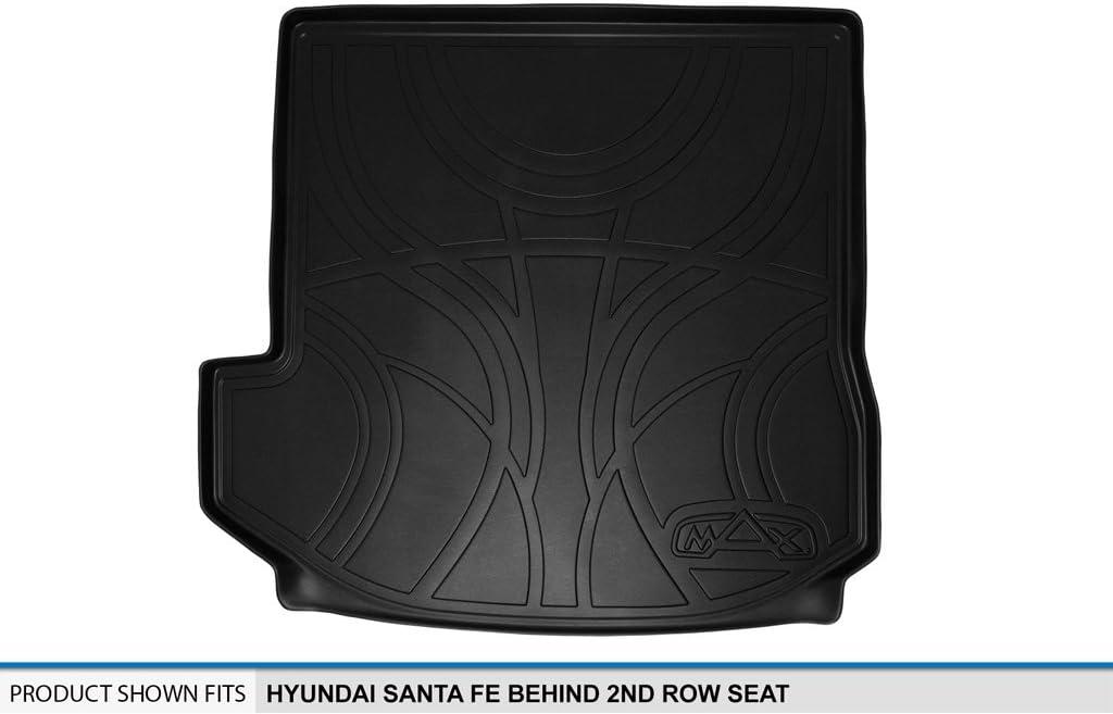 MAXLINER D0143 Tray Cargo Liner for Hyundai Santa Fe 2013-2017 Behind 2nd Row Seat Black