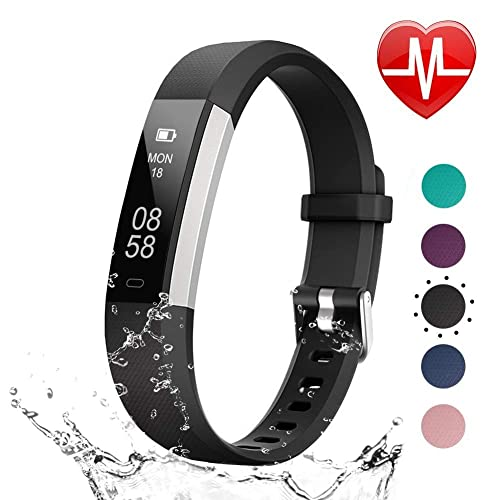 LETSCOM Fitness Tracker HR, Heart Rate Monitor Watch with Sleep Monitor Step Counter Pedometer,