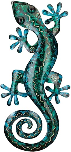Regal Art Gift 5530 Gecko Decor 29-Turquoise Wall D cor, Blue