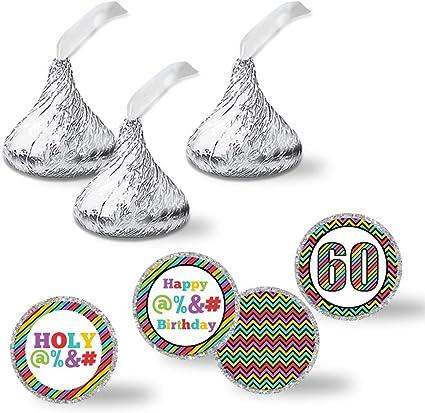 Amazon.com: Etiquetas adhesivas para fiesta de 60 cumpleaños ...