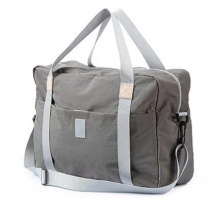 KEISHJD Foldable Travel Bag With Carry Bag Large Capacity Multi-Pocket  Nylon Waterproof grey ef4d875649
