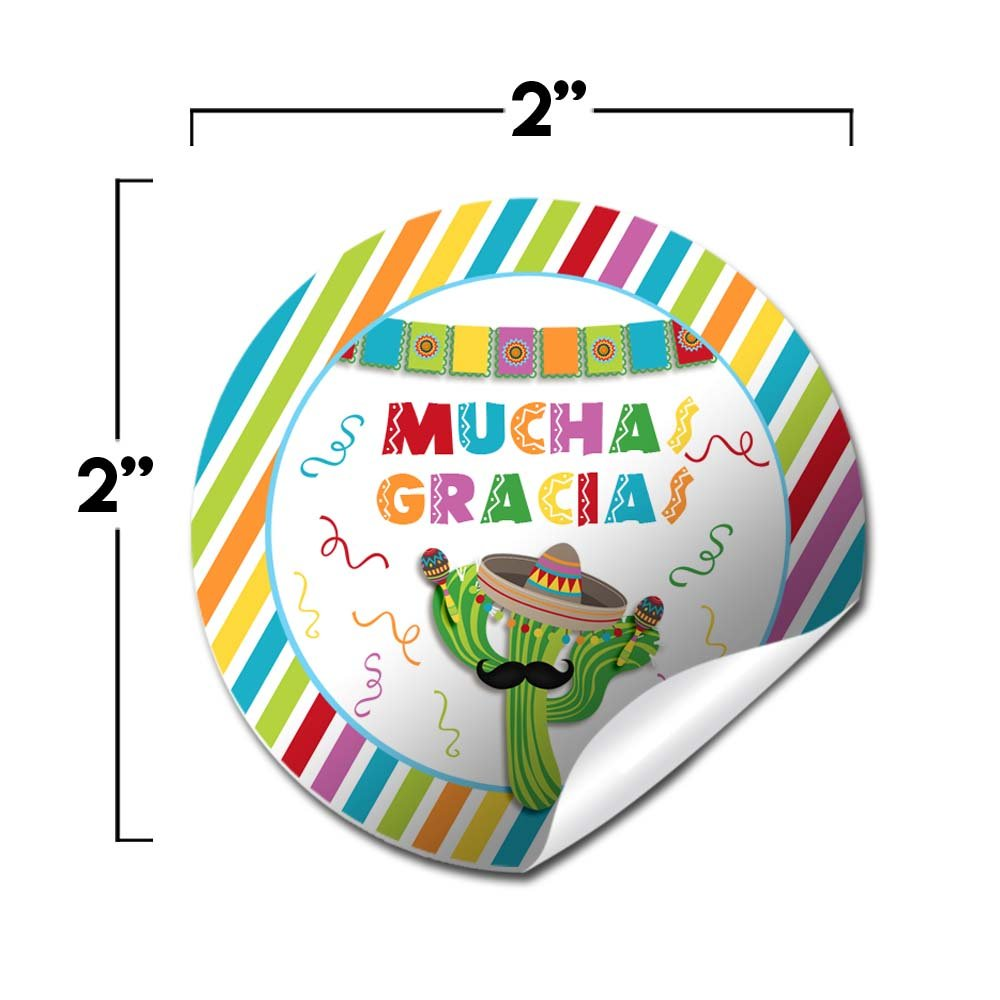 Amazon.com: Fiesta Cactus Birthday Party & Cinco De Mayo Sticker Labels, 40 2