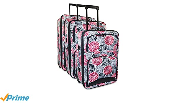 Amazon.com | Ever Moda 3-Piece Carry On Luggage Set with Wheels ...