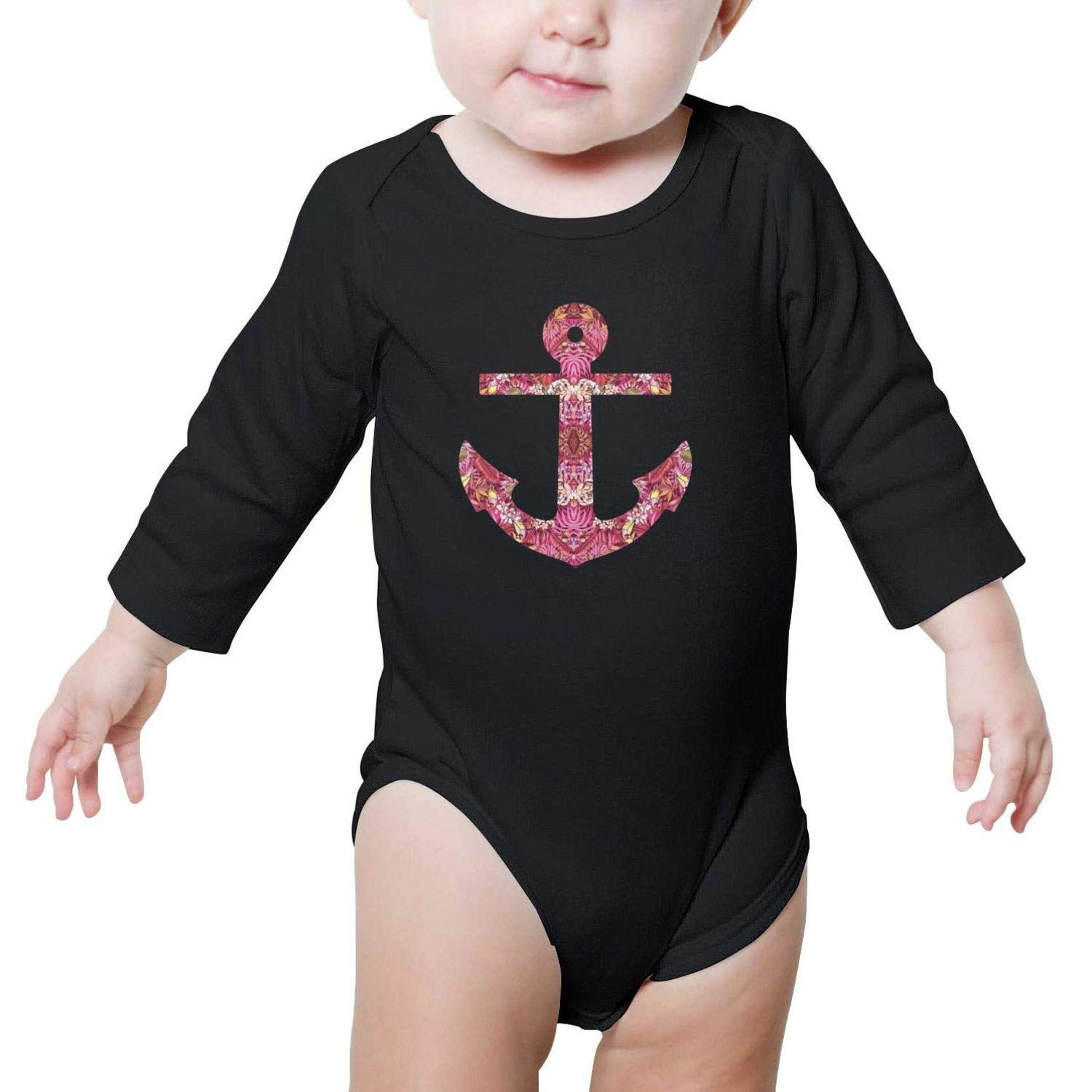 Anchor Print in Tropical Floral Baby Boys Girls Cool Baby Onesies
