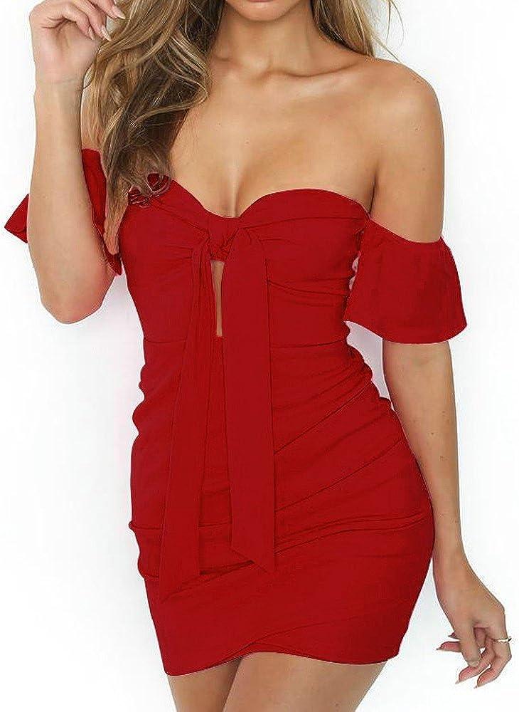 Plus Size Dresses,Women Off Shoulder Short Sleeve Lace Design Party Mini Dress