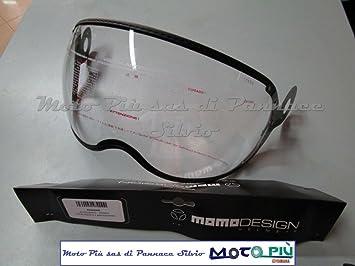 MOMO Design visera casco Original De Carbono antiarañazos para fgtr 2011 < añil