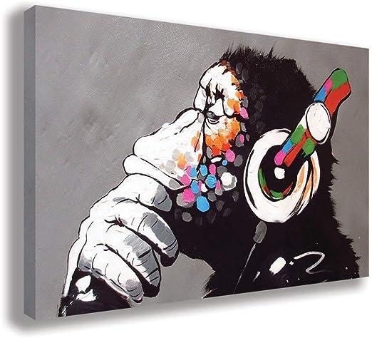 DJ Monkey Banksy Wall Art