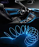FABTEC EL Wire Car Interior Light Ambient Neon Light For All Car Models With Adapter (5 Meter) (BLUE)