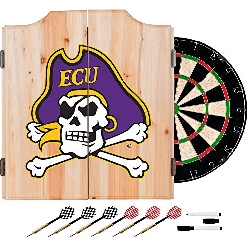 NCAA East Carolina University Wood Dart Cabinet ()