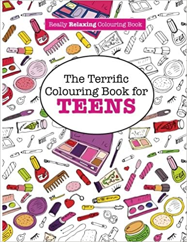 amazoncom the terrific colouring book for teens a really relaxing colouring book 9781908707987 elizabeth james books - Coloring Books For Teens