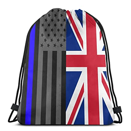 9814d0f9c498 Amazon.com: Hand Jin Gym Sack Bag Drawstring American Flag and ...