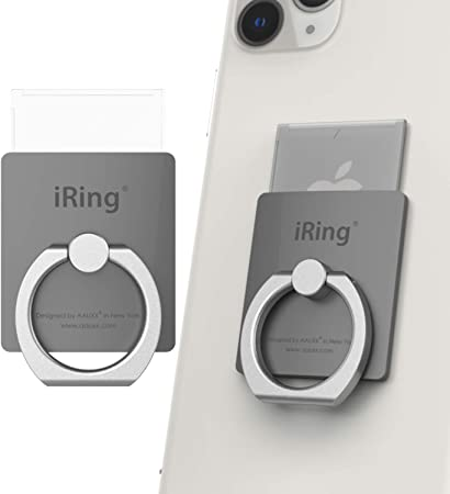 Amazon.com: iRing Link-Detachable Plate for Wireless Charging, Include Hook  Mount for Wall or Car Cradle. Original AAUXX Cell Phone Ring Grip Finger  Holder Mobile Stand, Universally Compatible.(Grey): Electronics