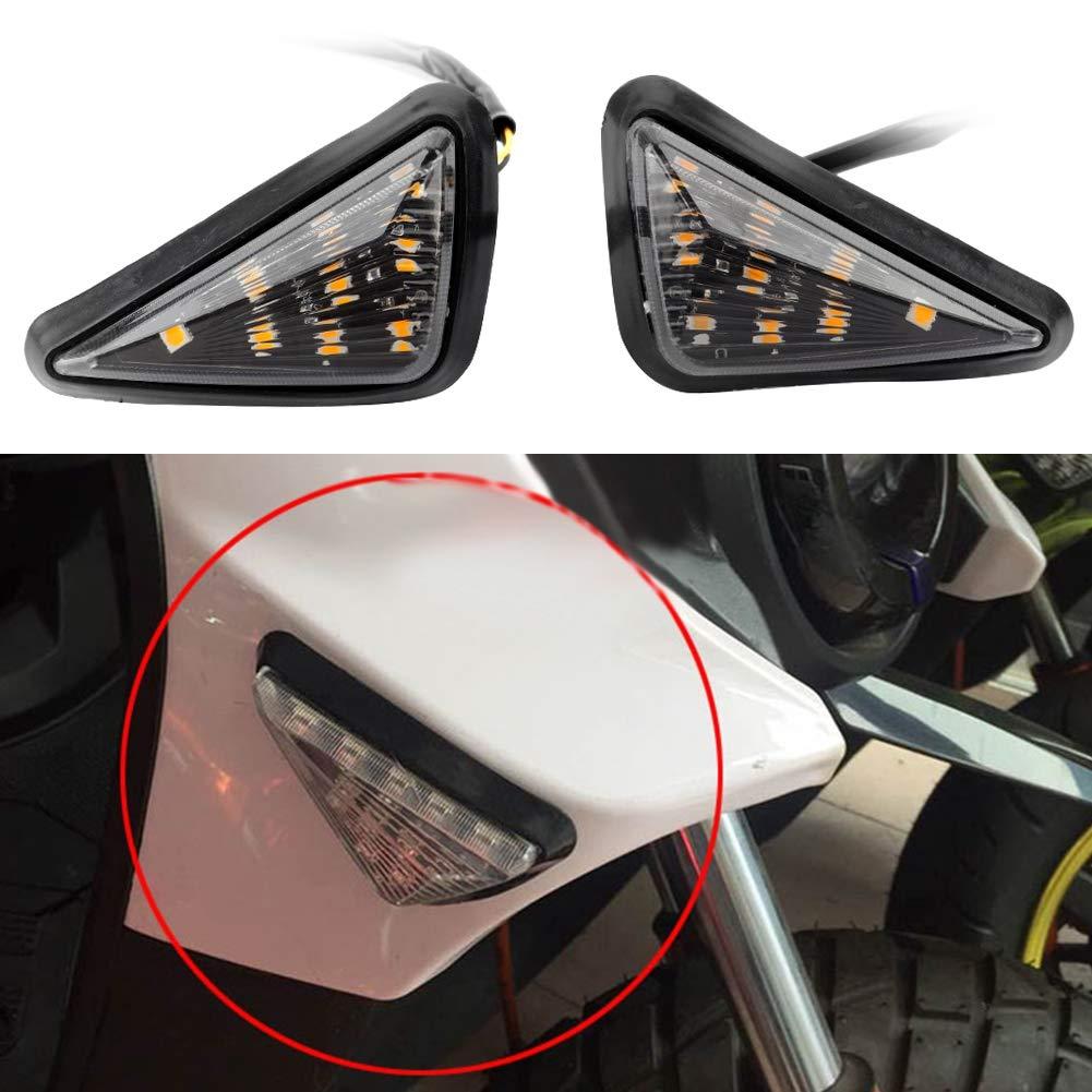 indicatore di direzione impermeabile LED triangolare 2 pezzi Yctze Indicatore di direzione per moto