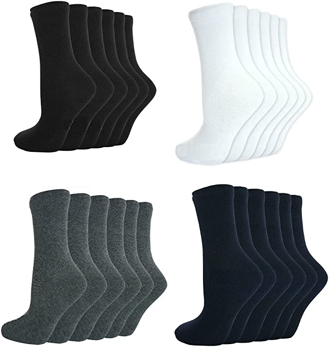Girls Boys Unisex Childrens Kids Teens 100/% Cotton Soft Top Calf Ankle Socks School Uniform Size 3-7