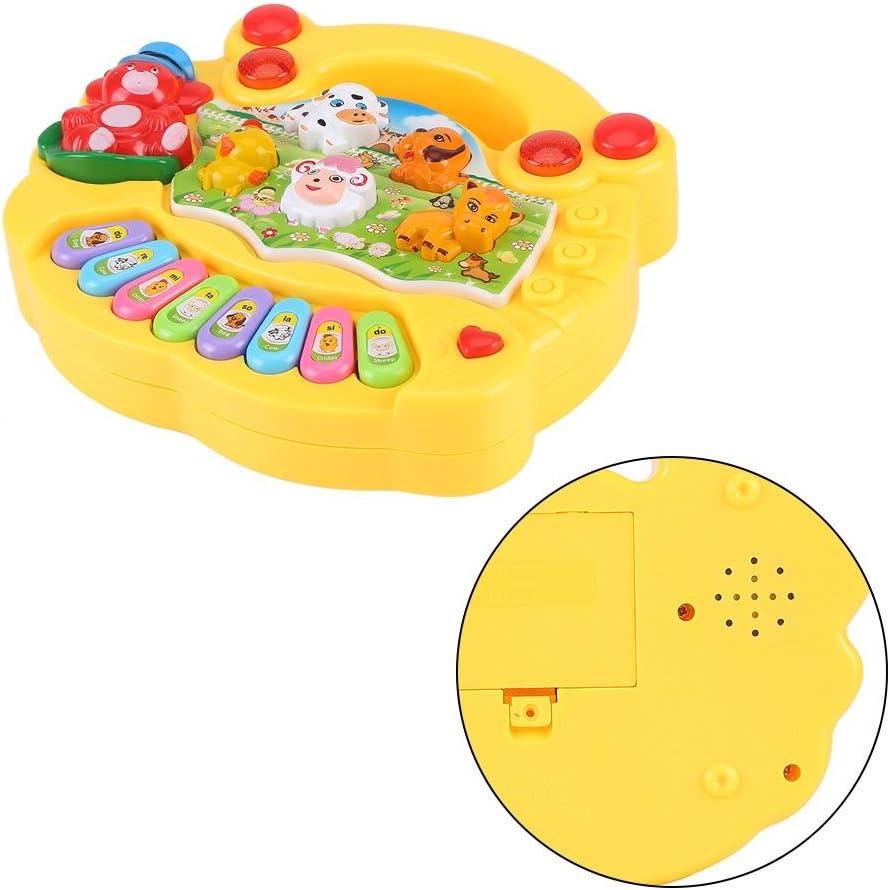 Animale educativo per Bambini Giallo SOULONG Pianoforte Elettrico per Neonati Strumento Musicale e tastiere Giocattolo Musicale Solido