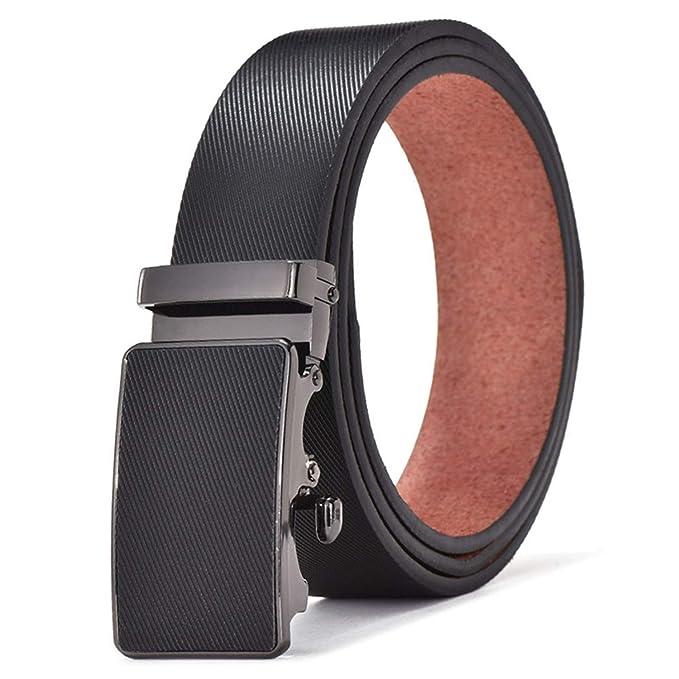 Auspiciousi Cinturón para hombre Pu cuero hebillas delgadas ...